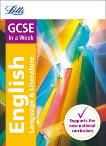 GCSE 9-1 English In a Week - Letts GCSE,Ian Kirby - cover