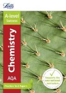 AQA A-level Chemistry Practice Test Papers - Letts A-Level - cover