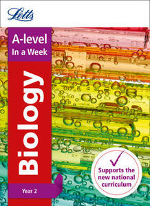 A -level Biology Year 2 In a Week - Letts A-Level - cover