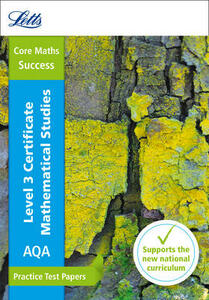 AQA Level 3 Certificate Mathematical Studies: Practice Test Papers - Letts Core Maths - cover