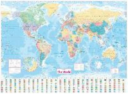 Collins World Wall Laminated Map - Collins Maps - cover