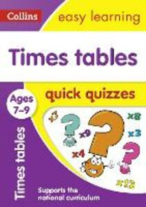 Times Tables Quick Quizzes Ages 7-9 - cover