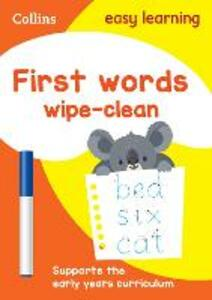 First Words Age 3-5 Wipe Clean Activity Book - Collins Easy Learning - cover