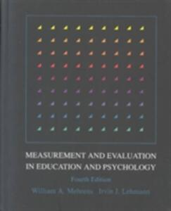 Measurement and Evaluation in Education and Psychology - William A. Mehrens,Irvin J. Lehmann - cover