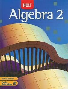 Holt Algebra 2: Student Edition 2007 - cover