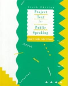Project Text for Public Speaking - Clark S. Carlile,Arlie V. Daniels - cover