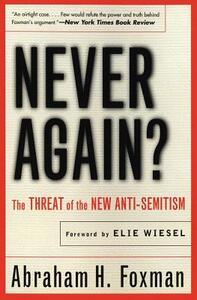 Never Again? - Abraham Foxman - cover