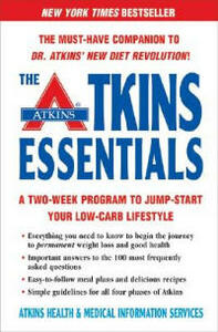 Atkins Essentials: A Two-week Program to Jump-start Your Low-carb Lifestyle - Health Atkins - cover