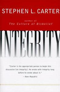 Integrity - Stephen L Carter - cover