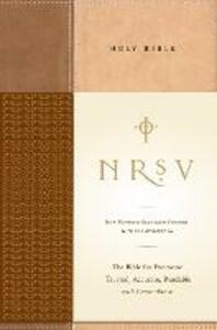 NRSV, Standard Bible with Apocrypha, Hardcover, Tan/Brown: The Bible for Everyone: Trusted, Accurate, Readable - cover