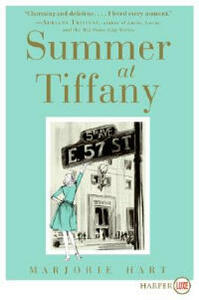 Summer At Tiffany Large Print - Marjorie Hunt - cover