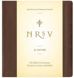 NRSV, XL Edition, Bonded Leather, Brown - Harper Bibles - cover