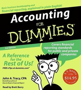 Accounting for Dummies - John A Tracy - cover