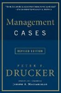 Management Cases, Revised Edition - Peter F. Drucker - cover