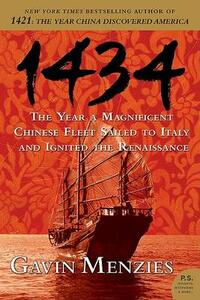 1434: The Year a Magnificent Chinese Fleet Sailed to Italy and Ignited the Renaissance - Gavin Menzies - cover