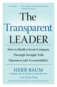 Foto Cover di The Transparent Leader, Ebook inglese di Herb Baum,Tammy Kling, edito da HarperCollins