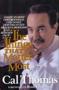 Foto Cover di The Things That Matter Most, Ebook inglese di Cal Thomas, edito da HarperCollins