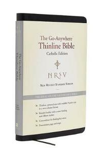 NRSV, The Go-Anywhere Thinline Bible, Catholic Edition, Bonded Leather, Black: The Ideal On-the-Go Portable Bible - Harper Bibles - cover