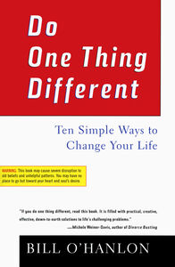 Foto Cover di Do One Thing Different, Ebook inglese di Bill O'Hanlon, edito da HarperCollins