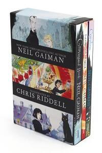 Neil Gaiman/Chris Riddell 3-Book Box Set: Coraline; The Graveyard Book; Fortunately, the Milk - Neil Gaiman - cover