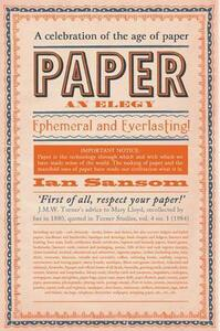 Paper: An Elegy - Ian Sansom - cover