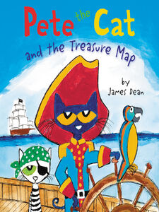 Ebook in inglese Pete the Cat and the Treasure Map Dean, James