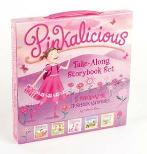 The Pinkalicious Take-Along Storybook Set: Tickled Pink, Pinkalicious and the Pink Drink, Flower Girl, Crazy Hair Day, Pinkalicious and the New Teacher - Victoria Kann - cover