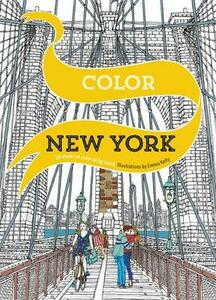Color New York: 20 Views to Color in by Hand - Emma Kelly - cover