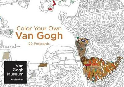Color Your Own Van Gogh 20 Postcards - cover