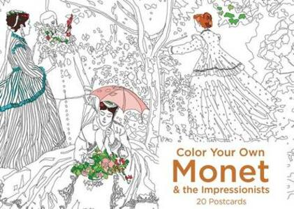 Color Your Own Monet and the Impressionists 20 Postcards - None - cover