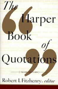 The Harper Book of Quotations - cover
