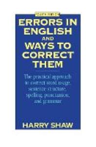 Errors in English and Ways to Correct Them - Harry Shaw - cover