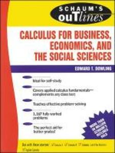 Schaum's Outline of Calculus for Business, Economics, and The Social Sciences - Edward T. Dowling - cover