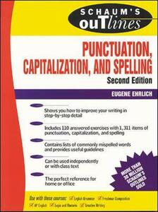 Schaum's Outline of Punctuation, Capitalization & Spelling - Eugene Ehrlich - cover