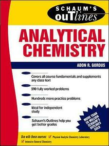 Schaum's Outline of Analytical Chemistry - Adon A. Gordus - cover