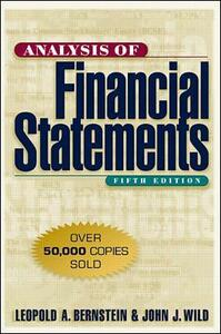 Analysis of Financial Statements - Leopold A. Bernstein,John J. Wild - cover