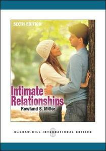 Intimate Relationships - Rowland S. Miller - cover