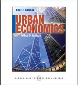 Libro Urban economics Arthur O'Sullivan