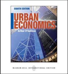 Urban economics - Arthur O'Sullivan - copertina