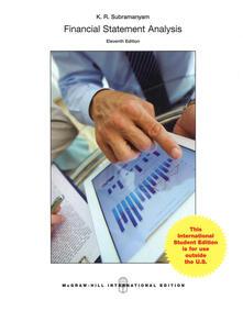 Financial statement analysis - K. R. Subramanyam - copertina
