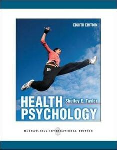 Libro Health psychology Shelly E. Taylor