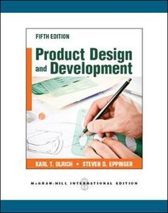 Libro Product disign and development Karl Ulrich , Steven Eppinger
