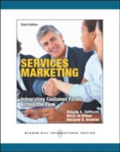 Services marketing - Valarie A. Zeithaml,M. Jo Bitner,Dwayne D. Gremler - copertina