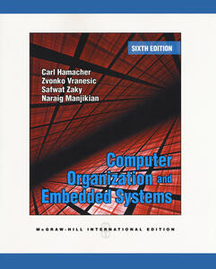 Computer Organization and Embedded Systems (Int'l Ed) - V. Carl Hamacher,Zvonko G. Vranesic,Safwat G. Zaky - cover