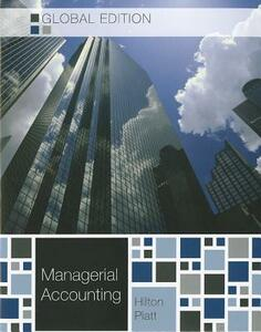 Managerial accounting - Ronald W. Hilton - copertina