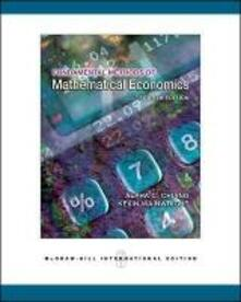 Fundamental method of mathematical economics - C. Chiang Alpha - copertina