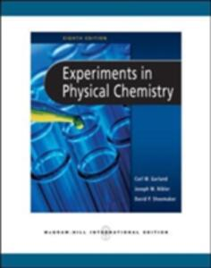 Experiments in Physical Chemistry - David P. Shoemaker,Carl W. Garland,Joseph W. Nibler - cover