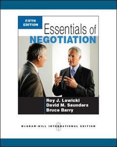 Libro Essentials of negotiation Roy J. Lewicki