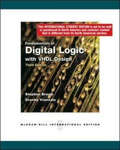 Libro Fundamentals of digital logic with VHDL Design Stephen Brown , Zvonko G. Vranesic