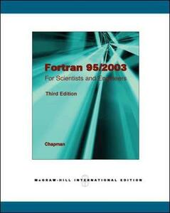 Fortran 95/2003 for Scientists & Engineers - Stephen J. Chapman - cover